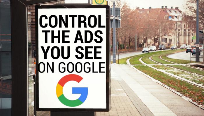 Controle os anúncios que você quer ver